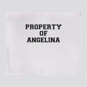 Property of ANGELINA Throw Blanket