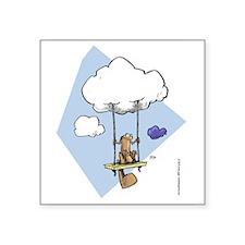 Swinging on a cloud Sticker