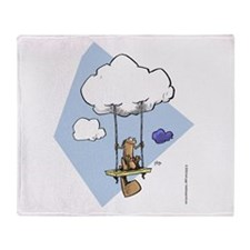 Swinging on a cloud Throw Blanket