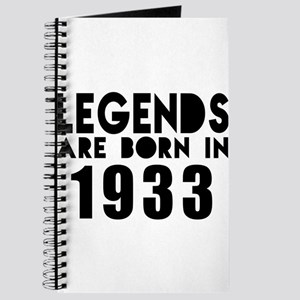 Legends Are Born In 1933 Journal