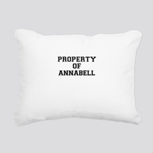 Property of ANNABELL Rectangular Canvas Pillow