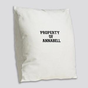 Property of ANNABELL Burlap Throw Pillow