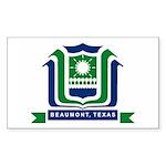 Beaumont Flag Rectangle Sticker