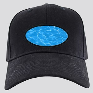 Blue Water Black Cap with Patch