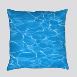 Blue Water Everyday Pillow
