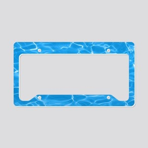Blue Water License Plate Holder