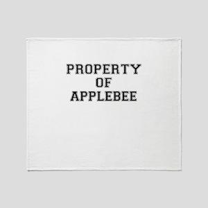 Property of APPLEBEE Throw Blanket