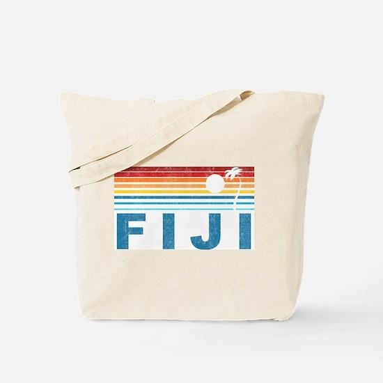 Retro Fiji Palm Tree Tote Bag
