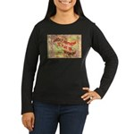 Flat Wyoming Women's Long Sleeve Dark T-Shirt