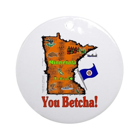 MN-Betcha! Ornament (Round)