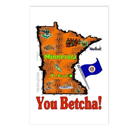 MN-Betcha! Postcards (Package of 8)