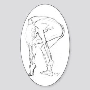 Anne Marie Oval Sticker