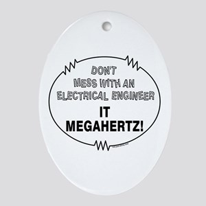 Electrical Engineer Oval Ornament