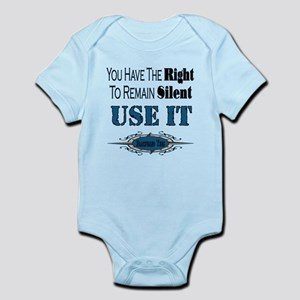 Right To Remain Silent Infant Bodysuit