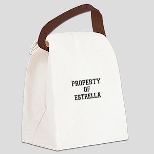 Property of ESTRELLA Canvas Lunch Bag