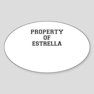 Property of ESTRELLA Sticker