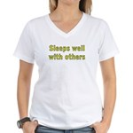 Sleeps Well With Others Women's V-Neck T-Shirt