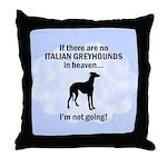 Italian Greyhounds In Heaven Throw Pillow