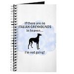Italian Greyhounds In Heaven Journal