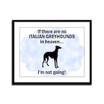 Italian Greyhounds In Heaven Framed Panel Print