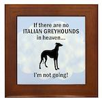 Italian Greyhounds In Heaven Framed Tile