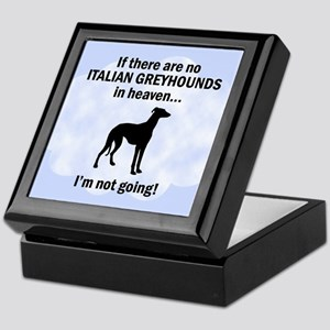 Italian Greyhounds In Heaven Keepsake Box