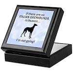 Italian Greyhounds In Heaven Keepsake Box
