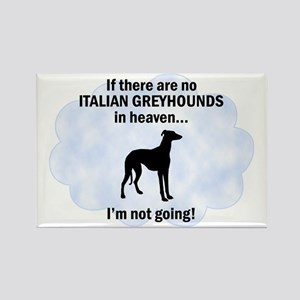 Italian Greyhounds In Heaven Rectangle Magnet