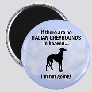 Italian Greyhounds In Heaven Magnet