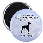 Italian Greyhounds In Heaven Magnet