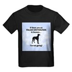 Italian Greyhounds In Heaven Kids Dark T-Shirt