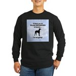 Italian Greyhounds In Heaven Long Sleeve Dark T-Sh