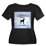 Italian Greyhounds In Heaven Women's Plus Size Sco