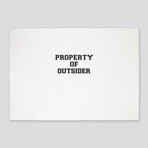 Property of OUTSIDER 5'x7'Area Rug