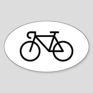 Racing Bicycle (Icon / Pictogram / Black) Sticker