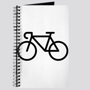 Racing Bicycle (Icon / Pictogram / Black) Journal