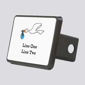 Stork New Baby Custom Two Line Design Hitch Cover