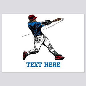 Custom Text Baseball Design Invitations