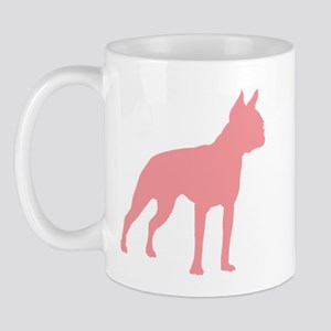 Boston Terrier Retro Pink Mug