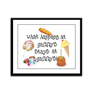 What Happens at Gammy's... Framed Panel Print