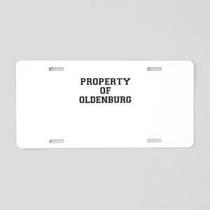Property of OLDENBURG Aluminum License Plate