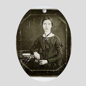 Emily Dickinson Oval Ornament