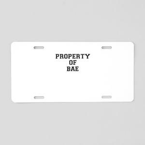 Property of BAE Aluminum License Plate