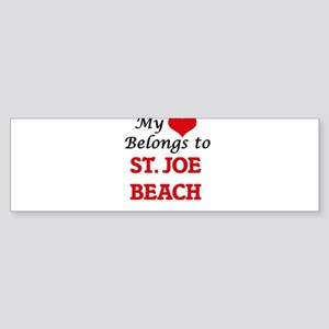 My Heart Belongs to St. Joe Beach F Bumper Sticker