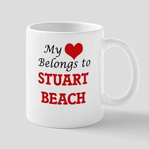 My Heart Belongs to Stuart Beach Florida Mugs