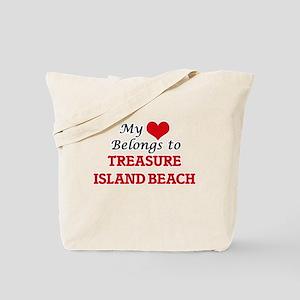 My Heart Belongs to Treasure Island Beach Tote Bag