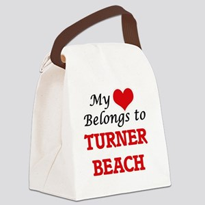 My Heart Belongs to Turner Beach Canvas Lunch Bag