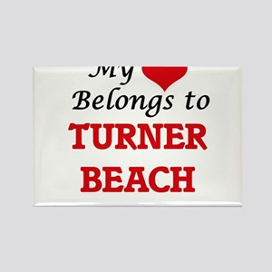 My Heart Belongs to Turner Beach Florida Magnets