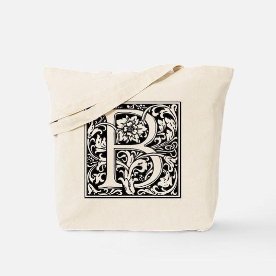 Unique Initial b Tote Bag