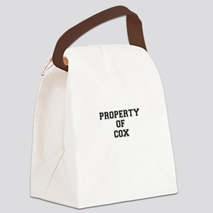 Property of COX Canvas Lunch Bag